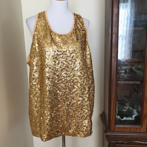 f91ed6e3ab Added Dimensions for Catherine s gold sequin top